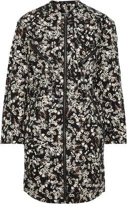 Rebecca Minkoff Daphne Zip-detailed Floral-print Stretch-cotton Drill Mini Dress
