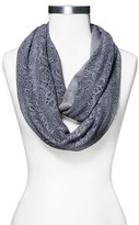 Xhilaration Women's Crochet and Knit Infinity Loop Scarf Gray