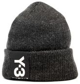 Y-3 Badge Ribbed-Knit Beanie