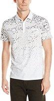 Calvin Klein Men's Short Sleeve 3 Button Printed Polo