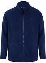 Yours Clothing BadRhino Plus Size Mens Jumper Cardigan Top Zip Through Bonded Fleece