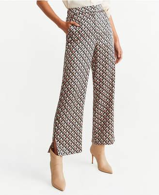 MANGO Printed Straight Trousers