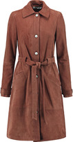 Elizabeth and James Whitley belted suede trench coat