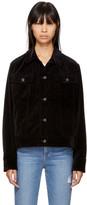 Rag & Bone Black Oversized Velvet Jacket