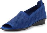 Sesto Meucci Eadan Open-Toe Demi-Wedge Sandal, Bluette