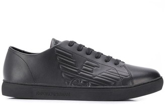 Emporio Armani Embossed Sneakers