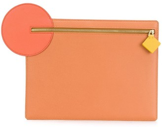 Roksanda Circle Zipped Clutch