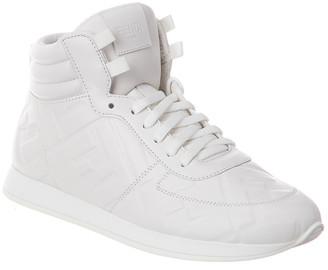 Fendi High-Top Leather Sneaker