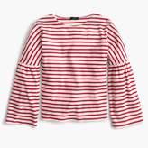 J.Crew Striped bell-sleeve T-shirt