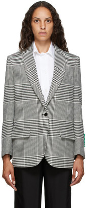Off-White Black and White Herringbone Tomboy Blazer