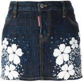 DSQUARED2 'Tokyo Flower' denim mini skirt