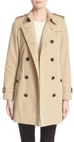 Burberry 'Kensington' Double Breasted Trench Coat