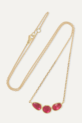 Brooke Gregson Orbit 18-karat Gold Ruby Necklace