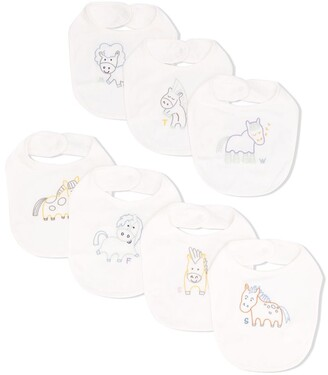 Stella McCartney Kids Horse-Embroidered Jersey Bibs Set