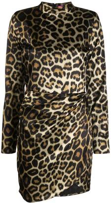 GAUGE81 Osaka leopard print mini dress