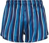 Derek Rose Silk Stripe Boxer Shorts