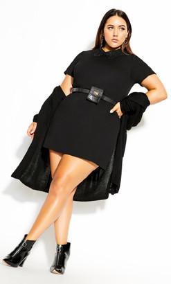 City Chic Cutie Lace Dress - black