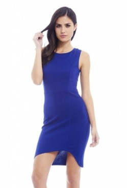 AX Paris Plain Asymmetric Front Dress