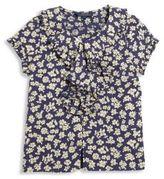 Ralph Lauren Girl's Ruffled Short-Sleeve Floral Top
