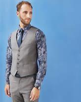Ted Baker Debonair Wool Waistcoat Grey