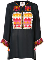 Figue embroidered tunic top - women - Silk - S