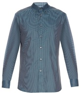 Brioni Micro-checked Cotton Shirt
