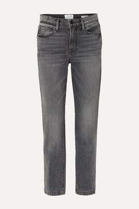 Frame Le Nouveau Mid-rise Straight-leg Jeans - Anthracite