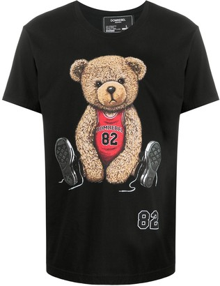 Dom Rebel Player Teddy-print cotton T-shirt