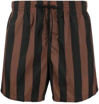 Fendi Striped Swim Shorts