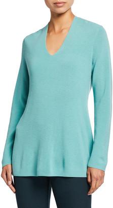 Eileen Fisher Plus Size Fine Merino Wool V-Neck Tunic