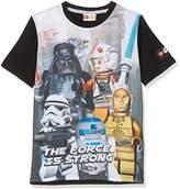 Lego Boy's Sw-the Force-Kids T-Black
