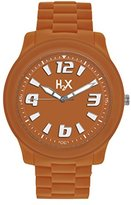Haurex H2X Women's SO381XO1 Splash Luminous Water Resistant Orange Soft Rubber Watch