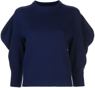 Proenza Schouler Draped Sleeve Knitted Jumper