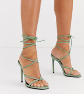 Barely There Asos Design ASOS DESIGN Navigate heeled sandals in mint