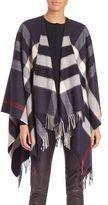 Burberry Collette Merino Wool & Cashmere Check Cape