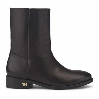Tommy Hilfiger Women's Mono Color Flat Boot Ankle