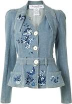 Christian Dior pre-owned Power Shoulder denim jacket