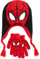 Spiderman Boys' or Little Boys' Hat & Gloves Set