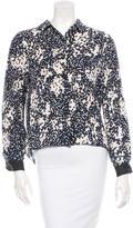 Jenni Kayne Silk Cropped Button-Up Top