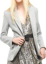Norma Kamali Women's Single Breasted Jacket - Terry - Heather Grey
