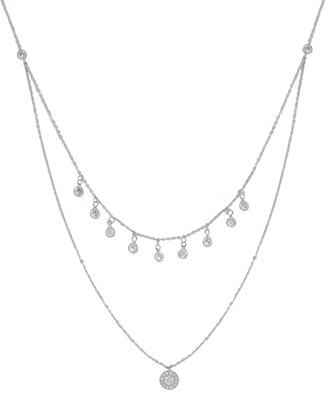 Ettika Pave Disc Layered Necklace