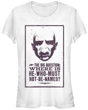 Fifth Sun Harry Potter Where Is Voldemort Poster Women's Short Sleeve T-Shirt