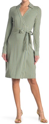 Diane von Furstenberg New Jeanne Printed Wrap Dress