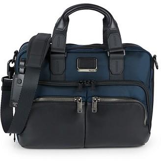 Tumi Albany Slim Textile Leather Commuter Brief Bag