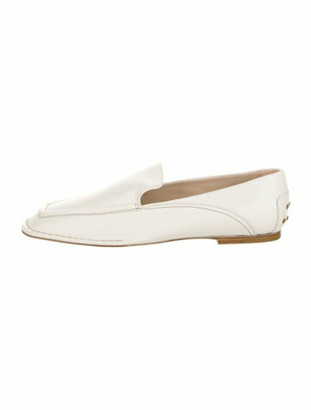 Tod's Leather Loafers w/ Tags White