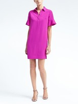 Banana Republic Flutter-Sleeve Polo Dress