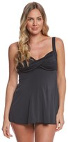 Prego Maternity Swimwear Solid Twist Baby Doll Tankini 8141610