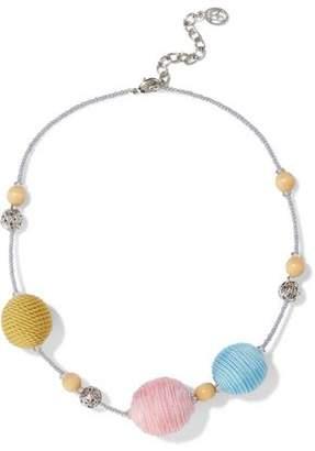 Ben-Amun Ben Amun Silver-tone, Bead And Cord Necklace