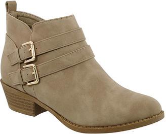 Top Moda Women's Casual boots Khaki - Khaki Double-Buckle Judy Bootie - Women