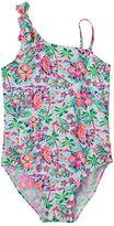 Osh Kosh Toddler Girl Tropical Asymmetrical One-Piece Swimsuit